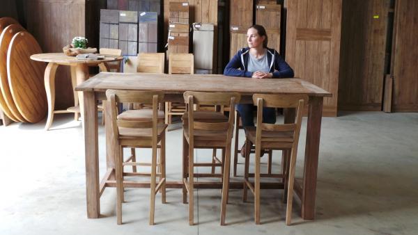 teak bartische teakm. Black Bedroom Furniture Sets. Home Design Ideas