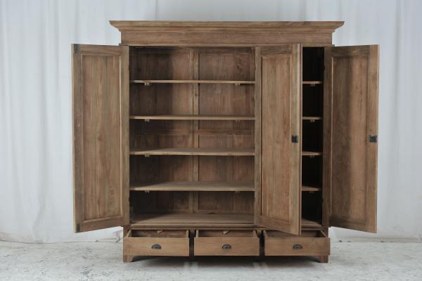 teak kleiderschr nke teakm. Black Bedroom Furniture Sets. Home Design Ideas