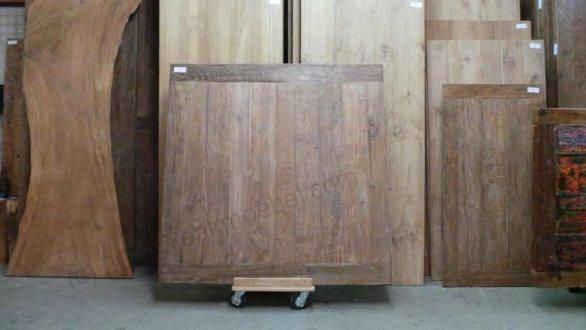 Old Teak Esstisch quadratisch 160x160 - Bild 3