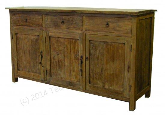 Teak Anrichte altes Holz 160 x 50 x 90 cm - Bild 7