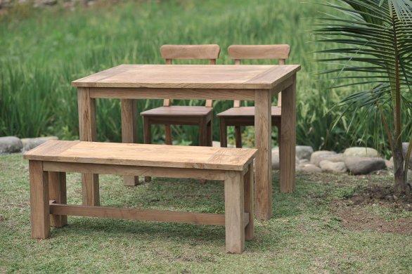 Gartentisch 120x80cm Mit 2 Stühle Und Bank