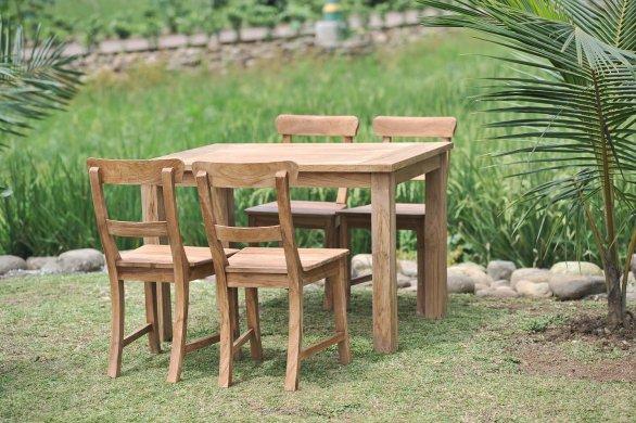 Gartentisch 120x80cm mit 4 Stühle - Bild 0