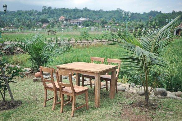 Gartentisch 120x80cm mit 4 Stühle - Bild 1