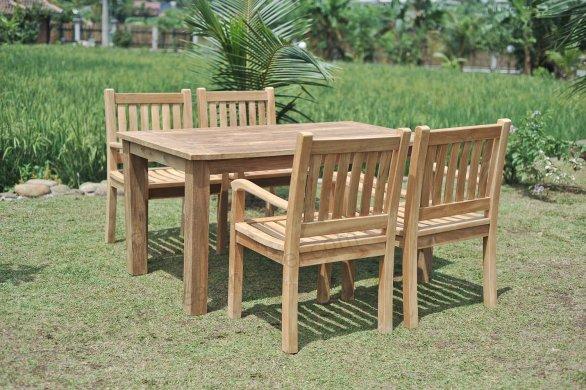 Gartentisch 160x90cm mit 4 Beaufort Stühle - Bild 0