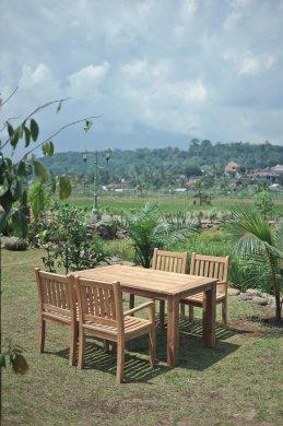 Gartentisch 160x90cm mit 4 Beaufort Stühle - Bild 1