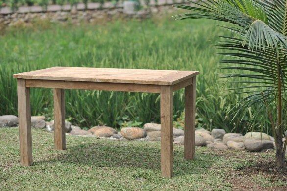 Gartentisch 160x90cm mit 4 Stapelstühle und Bank - Bild 2
