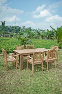 Gartentisch 200x100cm mit 6 Beaufort Stühle - Bild 1