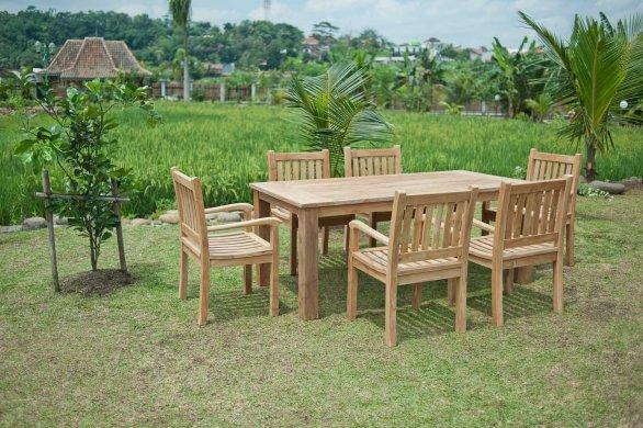 Gartentisch 200x100cm mit 6 Beaufort Stühle - Bild 0
