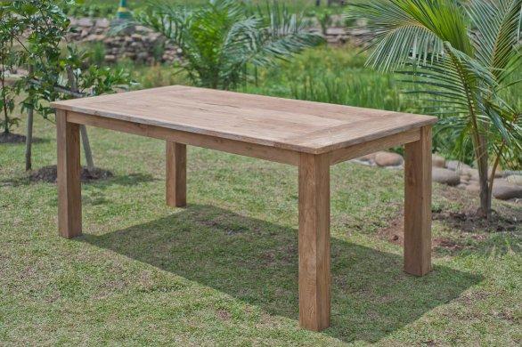 Gartentisch 200x100cm mit 6 Stapelstühle - Bild 2