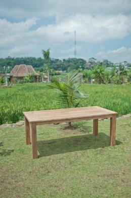 Gartentisch 200x100cm mit 6 Stapelstühle - Bild 3