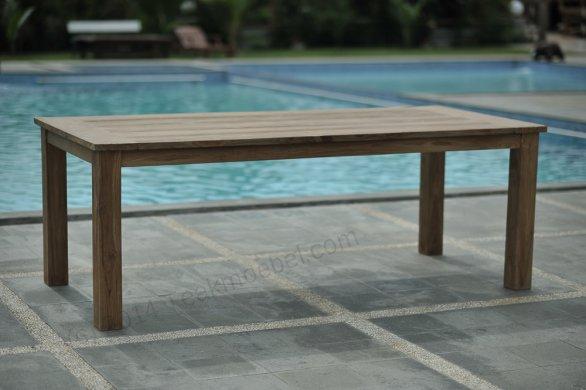 Gartentisch 220x100cm mit 4 Beaufort Stühle und Bank - Bild 2