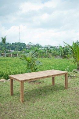 Gartentisch 240x100cm mit 5 Stapelstühle und Bank - Bild 2