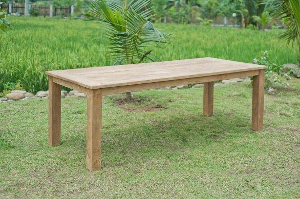 Gartentisch 240x100cm mit 5 Stapelstühle und Bank - Bild 1
