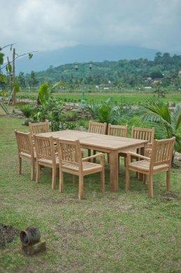 Gartentisch 220x100cm mit 8 Beaufort Stühle - Bild 1