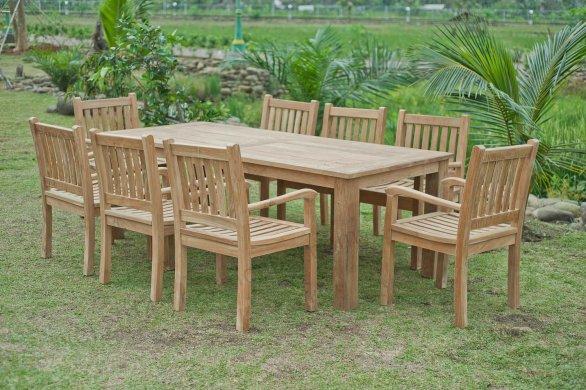 Gartentisch 220x100cm mit 8 Beaufort Stühle - Bild 0