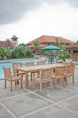Gartentisch 260x100cm mit 8 Beaufort Stühle - Bild 2
