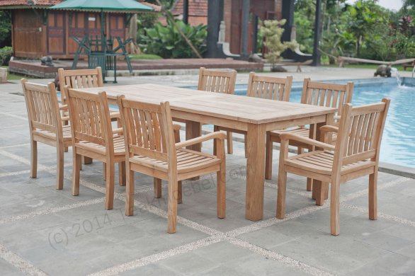 Gartentisch 260x100cm mit 8 Beaufort Stühle - Bild 0