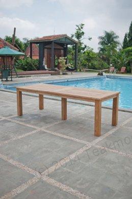 Gartentisch 260x100cm mit 8 Stapelstühle - Bild 3