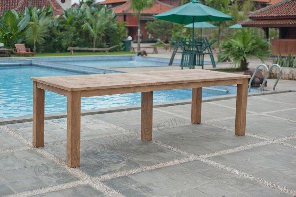 Gartentisch 260x100cm mit 8 Stapelstühle - Bild 1