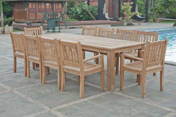 Gartentisch 280x100cm mit 10 Beaufort Stühle - Bild 0