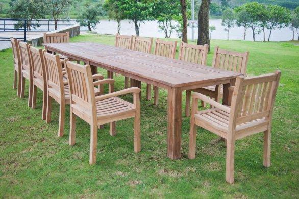 Gartentisch 400cm mit 12 Beaufort Stühle - Bild 0