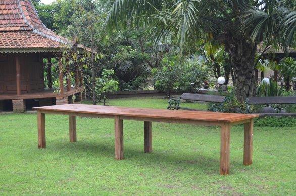 Gartentisch 400cm mit 12 Stapelstühle - Bild 2