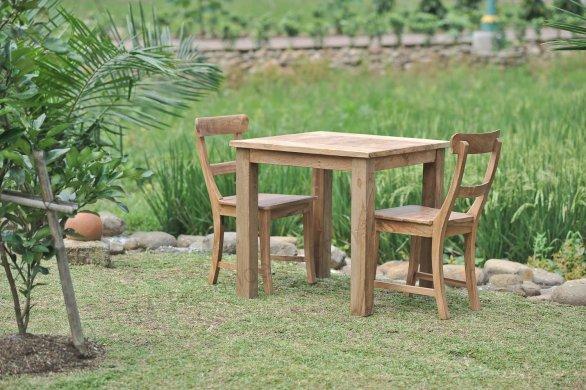 Gartentisch 80x80cm mit 2 Stühle - Bild 1