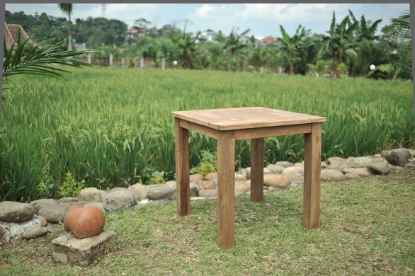 Teak Gartentisch 80 x 80 cm - Bild 0