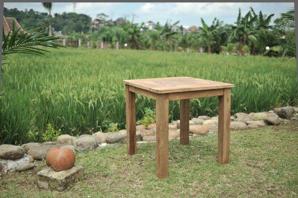Teak Gartentisch 90 x 90 - Bild 2