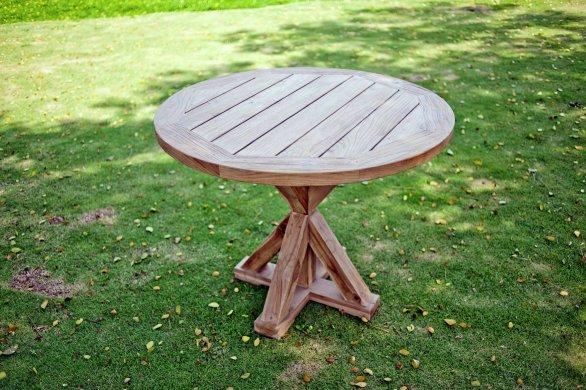 Runder teak Gartentisch 100cm - Bild 3