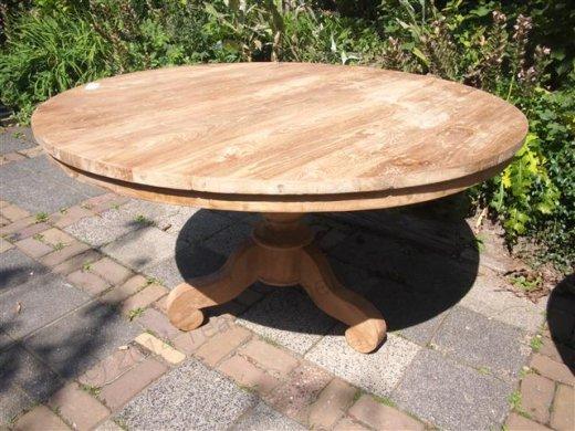 Teak Tisch rund  Ø 130 cm - Bild 0