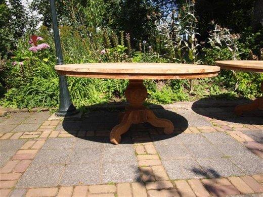 Teak Tisch rund  Ø 170 cm - Bild 1