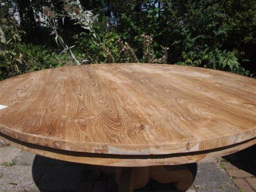 Teak Tisch rund  Ø 140 cm - Bild 1