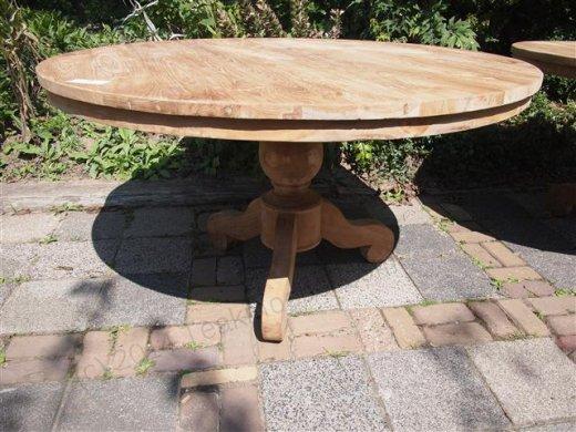 Teak Tisch rund  Ø 140 cm - Bild 0