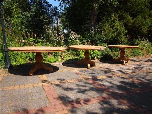 Teak Tisch rund  Ø 170 cm - Bild 2