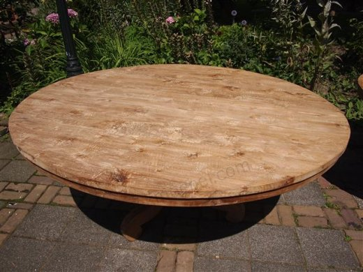 teak tisch rund 170 cm. Black Bedroom Furniture Sets. Home Design Ideas