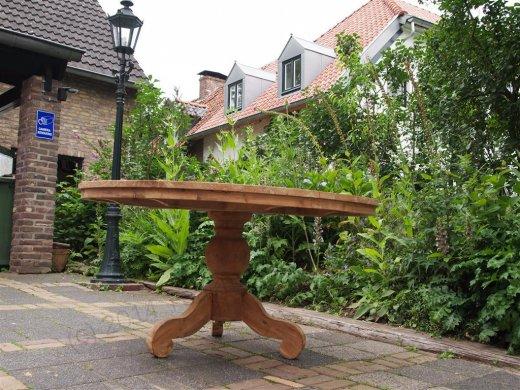 Teak Tisch rund Ø 150 cm - Bild 9
