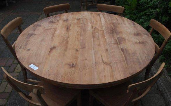 Teak Tisch rund Ø 150 cm - Bild 10