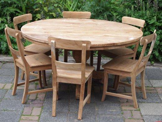 Teak Tisch rund Ø 150 cm - Bild 5