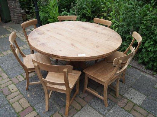 Teak Tisch rund Ø 150 cm - Bild 7