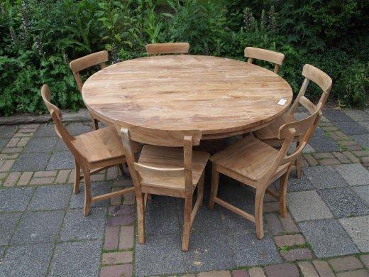 Teak Tisch rund Ø 150 cm - Bild 11