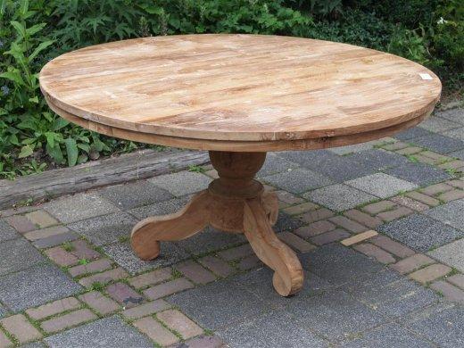 Teak Tisch rund Ø 150 cm - Bild 0