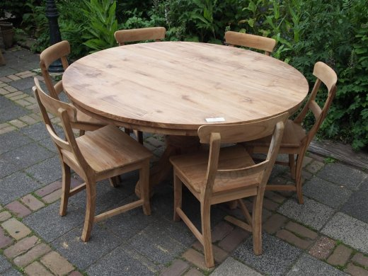 Teak Tisch rund Ø 150 cm - Bild 4