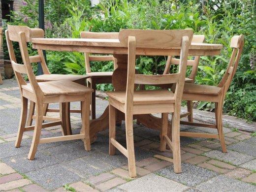 Teak Tisch rund Ø 150 cm - Bild 8