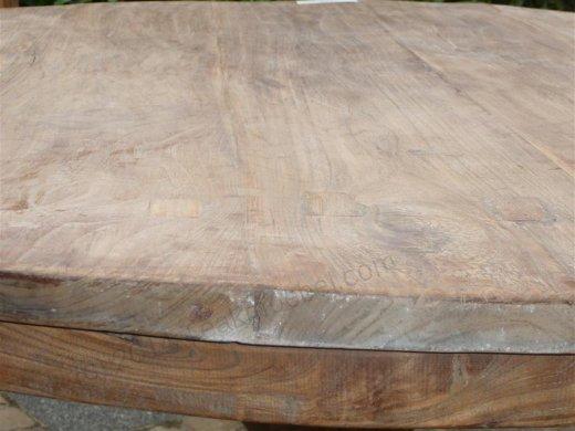 Teak-Tisch rund  Ø 140 cm altes Holz - Bild 2