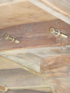 Teak-Tisch rund  Ø 140 cm altes Holz - Bild 13