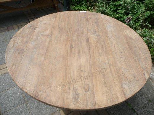 Teak-Tisch rund  Ø 140 cm altes Holz - Bild 11