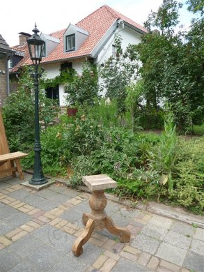 Teak-Tisch rund  Ø 140 cm altes Holz - Bild 5