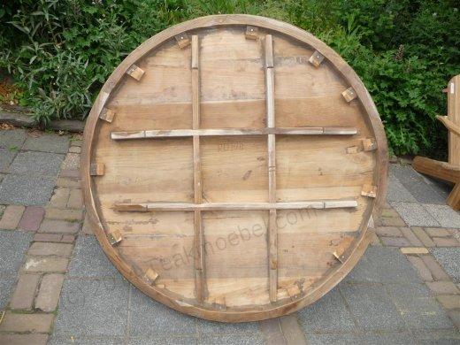 Teak-Tisch rund  Ø 140 cm altes Holz - Bild 6