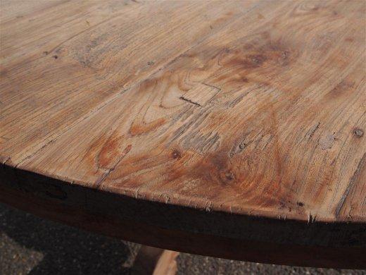 Teak Tisch rund Ø 150 cm altes Holz   - Bild 8